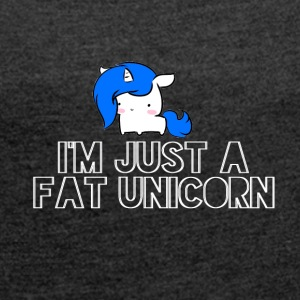 Unicorn - Thick Unicorn - Women's T-shirt with rolled up sleeves