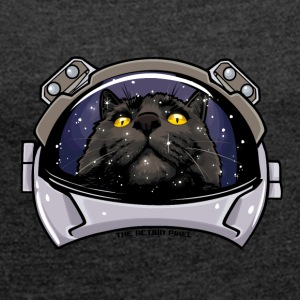 Kitty Cat Cosmos - Women's T-shirt with rolled up sleeves