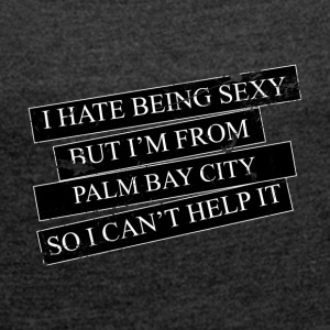 Motive for cities and countries - PALM BAY CITY - Women's T-shirt with rolled up sleeves