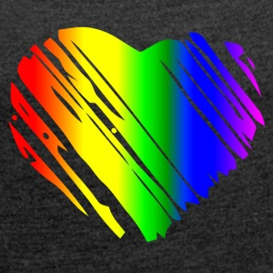 PRIDE HEART - Women's T-shirt with rolled up sleeves
