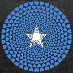 Somalia Soomaaliya الصومال Love HEART Mandala - Women's T-shirt with rolled up sleeves
