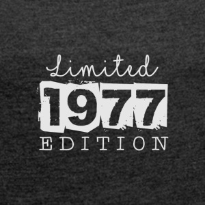 LIMITED EDITION - 1977 - Women's T-shirt with rolled up sleeves