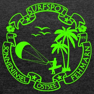 Fehmarn Surf Logo - Women's T-shirt with rolled up sleeves