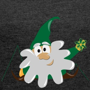 dwarf gnome - Women's T-shirt with rolled up sleeves