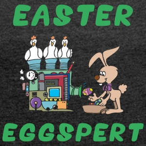 Easter Eggspert - Women's T-shirt with rolled up sleeves