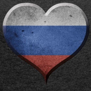 I LOVE RUSSIA - Women's T-shirt with rolled up sleeves