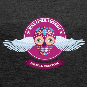 Paloma Rossi - Flying Skull Limited Edition - Frauen T-Shirt mit gerollten Ärmeln