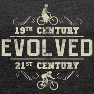 Bicycle Evolved Women's Cycling - Women's T-shirt with rolled up sleeves