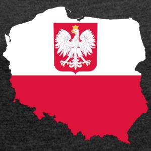 Poland eagle polska - Women's T-shirt with rolled up sleeves
