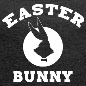 Easter Bunny - Women's T-shirt with rolled up sleeves