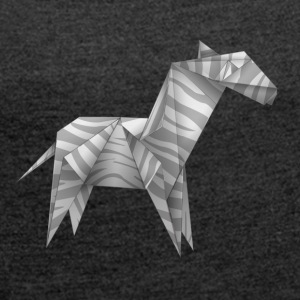 Origami zebra - Women's T-shirt with rolled up sleeves
