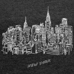 New York City - United States - Women's T-shirt with rolled up sleeves