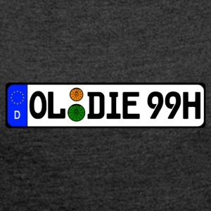 Oldies 99 historically - Women's T-shirt with rolled up sleeves