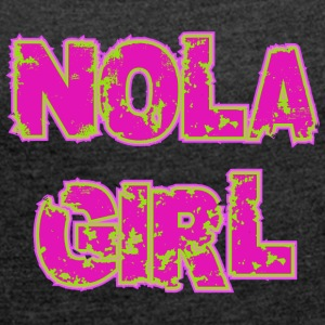 NOLA GIRL - Women's T-shirt with rolled up sleeves