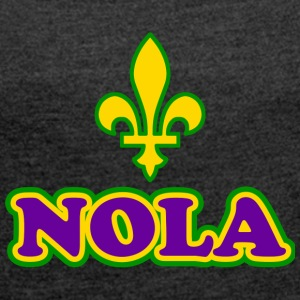 NOLA New Orleans Lousiana - Women's T-shirt with rolled up sleeves
