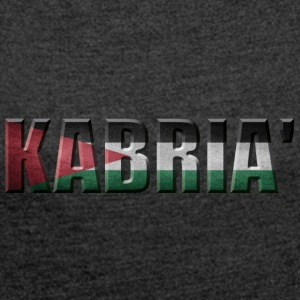 PALESTINE PRIDE KABRIA ' - Women's T-shirt with rolled up sleeves