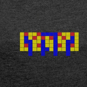 Apartment Tetris 3 - Women's T-shirt with rolled up sleeves