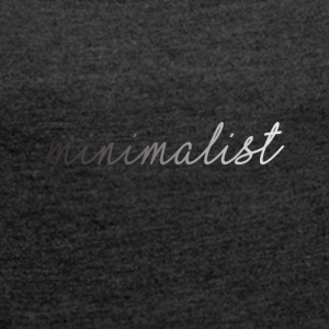 Minimalist Clothing UK - Women's T-shirt with rolled up sleeves