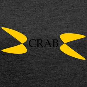 crab - Women's T-shirt with rolled up sleeves