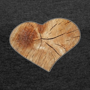 Heart_Wood_Isle - Women's T-shirt with rolled up sleeves