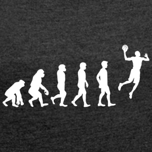 Basketball Evolution! - Women's T-shirt with rolled up sleeves