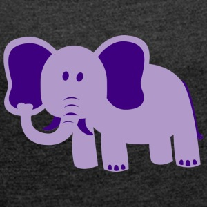Sweet Elephant - Women's T-shirt with rolled up sleeves