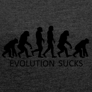 ++ ++ Evolution Sucks - Maglietta da donna con risvolti