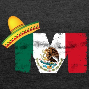 Mexican Flag - Women's T-shirt with rolled up sleeves