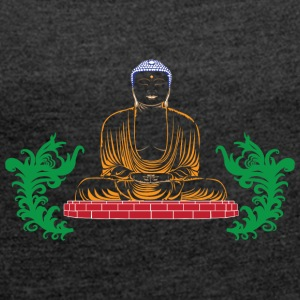 BUDDHA COLLECTION - Frauen T-Shirt mit gerollten Ärmeln