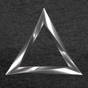 impossible triangle - Women's T-shirt with rolled up sleeves