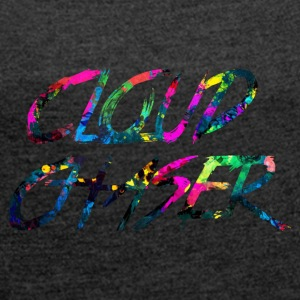 rainbow CLOUD CHASER - Women's T-shirt with rolled up sleeves