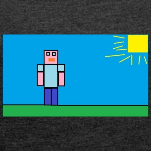 tetu_minecraft - Women's T-shirt with rolled up sleeves