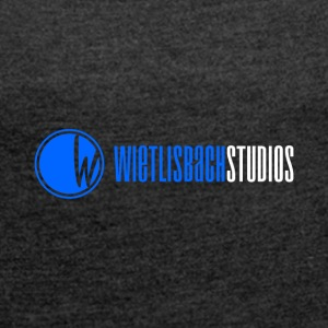 Logo_ W wietlisbachstudios_WEISS2017_offiziel - Women's T-shirt with rolled up sleeves