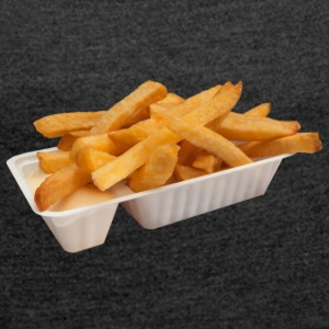 fries stuff - Women's T-shirt with rolled up sleeves