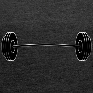 Barbells - Women's T-shirt with rolled up sleeves