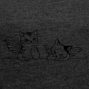SWEET CATS COLLECTION - Women's T-shirt with rolled up sleeves
