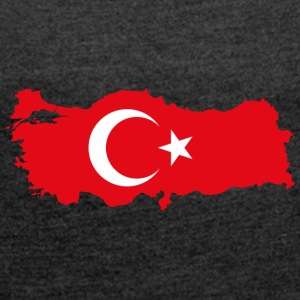 I LOVE TURKEY - Women's T-shirt with rolled up sleeves