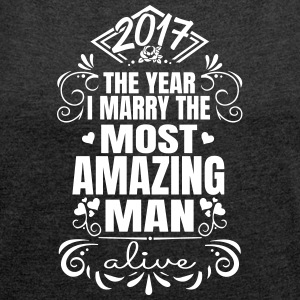 Wedding / Engagement 2017 Best Man - T-shirt med upprullade ärmar dam