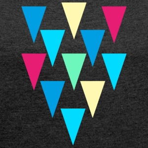 triangles_rain - Women's T-shirt with rolled up sleeves