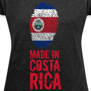 Made In Costa Rica - Women's T-shirt with rolled up sleeves