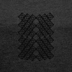 Octahedron Complex - Women's T-shirt with rolled up sleeves