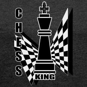 Chess King - Women's T-shirt with rolled up sleeves