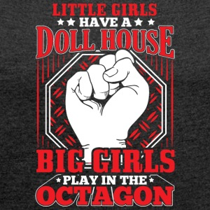 MMA LITTLE GIRLS OCTAGON - Women's T-shirt with rolled up sleeves