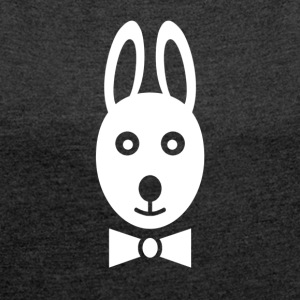 Rabbit and Tuxedo - Women's T-shirt with rolled up sleeves