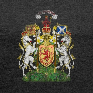 Scottish Coat of Arms Scotland Symbol - Women's T-shirt with rolled up sleeves