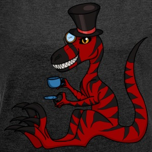Fancy velociraptor - Women's T-shirt with rolled up sleeves