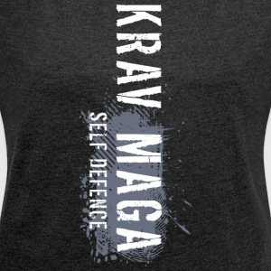 krav maga - Women's T-shirt with rolled up sleeves