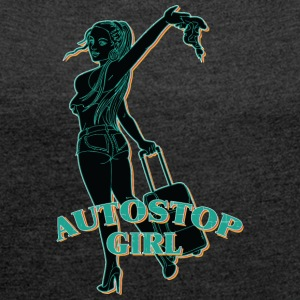 AUTOSROP SEXY GIRL VINTAGE - Women's T-shirt with rolled up sleeves