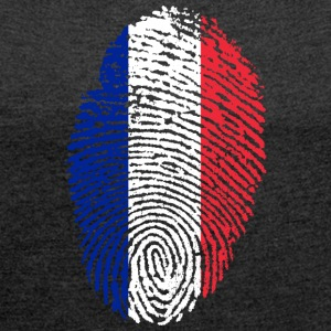 IN LOVE WITH FRANCE - Frauen T-Shirt mit gerollten Ärmeln