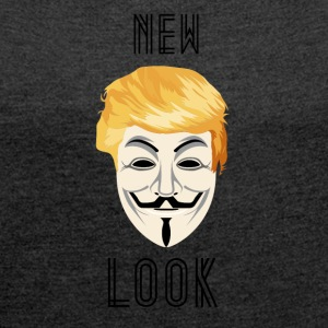 New Look Transparant / Anonymous Trump - Vrouwen T-shirt met opgerolde mouwen